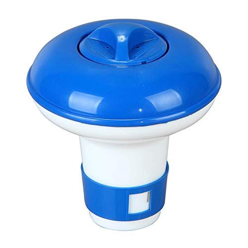 Dispensador de cloro químico de 15 cm para baño de natación y desinfectante, bomba de cloro automática, dispositivo de dosificación para piscinas interiores y exteriores