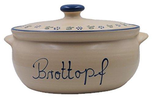Unbekannt Brottopf/Brotkasten/Brotbox Beige/Ammerland Oval aus Keramik