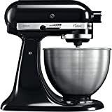 KitchenAid 5K45SSEOB Robot DE Cocina DE 4,3 L Classic Onix, 275 W, 4.3 litros, Acero Inoxidable, 10 Velocidades, Negro, Metálico