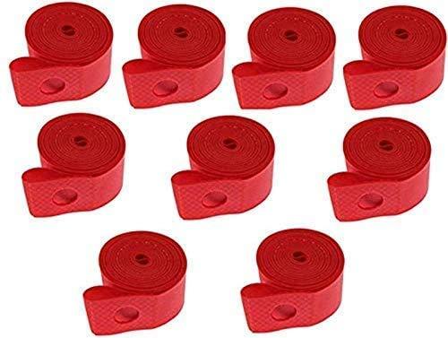 Tiras de llanta para neumáticos de bicicleta con borde de llanta de llanta de bicicleta cinta tamaño 700c, 10 piezas