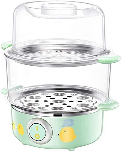 DKEE Huevo Comida eléctrica Vapor de Vapor de Doble Capa Huevo de Vapor Huevo Calentador de calefacción rápida Caldera de Caldera Cocina Cocina Máquina de cocción 16 Capacidad del Huevo