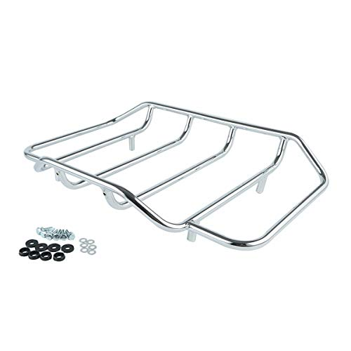 XFMT Chrome Tour Pack Luggage Rack Trunk Top Rack Rail For Harley Touring Road King Electra Street Glide 1984-2020