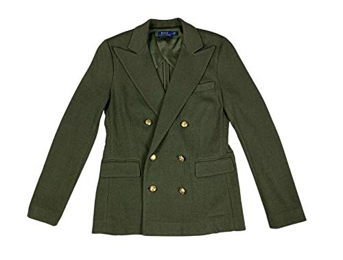 Ralph Lauren Polo Womens Tight Knit Peacoat Jacket Olive Green New Retail $600 (10)