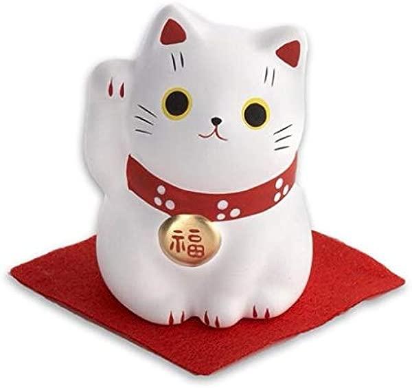 Maneki Neko White Cat Happiness