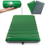 Backpacking Sleeping Pad - 4 or 2.5 inch Camping Pad - Lightweight Inflatable Camping Mattress Pad - Self Inflating - Sleeping Mat for Hiking Trail/Tent - Adult Standard & Ultralight Sizes for Sleep
