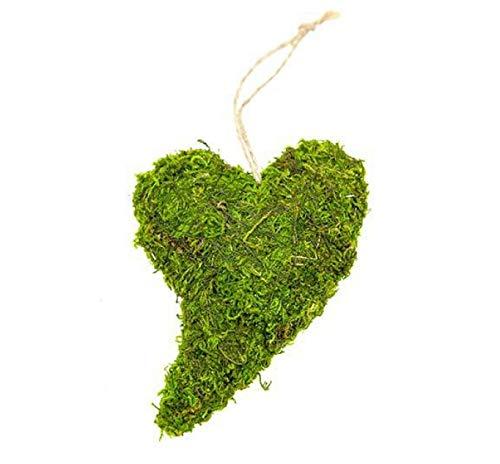 8 STK MOOSHERZ geschwungen 12cm Naturdeko Gastgeschenk Hochzeit Tischdeko Moos Herzen grüne Dekoherzen Islandmoos Dekomoos Mitbringsel Hochzeitsdeko