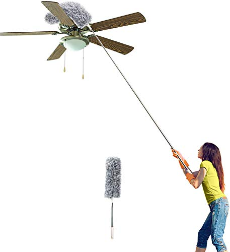 Microfiber Duster with Extension Pole(Stainless) 30'' to 100''