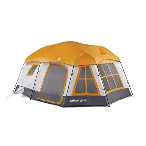 Tahoe Gear Ozark TGT-OZARK-16-B 16 Person 3 Season Family Cabin Tent,...