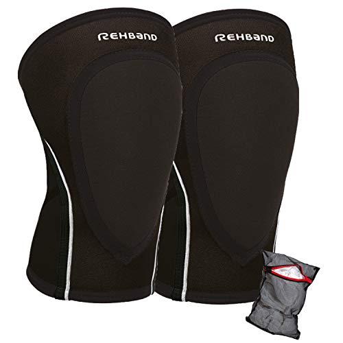 Ziatec Rehband PRN Knee Pad 3mm Edition, Knieschoner, Kniebandage, Handball-Knieschutz, Größe:M, Farbe:Schwarz - 1 Paar
