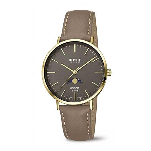 Boccia Herren Analog Quarz Uhr mit Leder Armband 3611-02