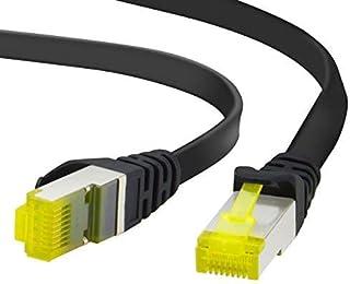 ADWITS 3m Cavo di Rete Cat 7 Piatto | Cavo a schermatura U FTP PIMF con connettori RJ45 | 10000 Mbit s | 10 Gigabit, 600MH...