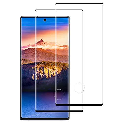 DASFOND Protector Pantalla de Samsung Galaxy Note 10 Cristal Templado [Cobertura Completa, 9H Dureza, Alta Definicion, Alta sensibilidad, Protector de Pantalla para Samsung Galaxy Note 10-2 Piezas