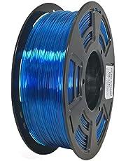 Stronghero3D desktop FDM 3D printer filament PETG transparant blauw 1.75mm 1kg (2.2 lbs) afmeting nauwkeurigheid van +/-0,05mm