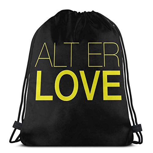 FVBV Alt Er Love Skam Bolsa con cordón Bolsa de deporte deportiva Bolsa de viaje Bolsa de regalo Mochila de fitness, mochila escolar, bolsa de viaje