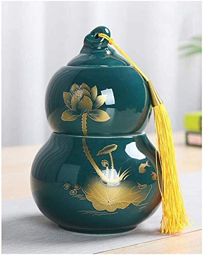 Mini Cremation Urns Pet Funeral Urn Cremation Urns Adults Children Pet Urns Sealed Against Garden Urns for Ashes TQZHENG (Color : Green)