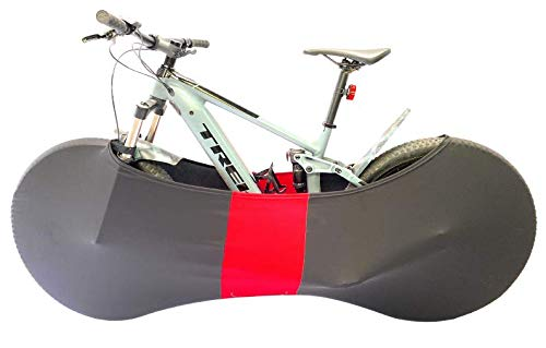 Bike Bra LARGE Bicycle Cover Heavy Duty Cycle storage (UK Made (RED)