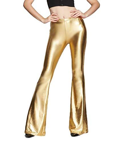 Targogo dames boot gesneden flared broek disco hoge glitter skinny taille dans broek effen kleur club feestkleding feestelijke avondkleding legging