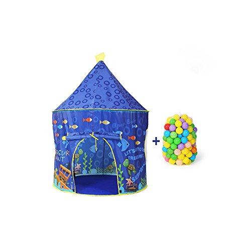 Viñedo Protección del Medio Ambiente para niños Carpa Juego Casa Yurta Casa Interior al Aire Libre Niños sobre el Castillo Piscina de Juguete 98 * Alto 135cm1-8 años (Color : Pink)