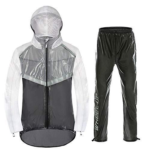 LSLS Poncho Bicycle Raincoat Pantaloni Pantaloni da Pioggia Vestita All'aperto Mountain Mountain Bike Pantaloni da Equitazione Giacca per Capelli Mantella Pioggia (Color : Black, Size : XX-Large)