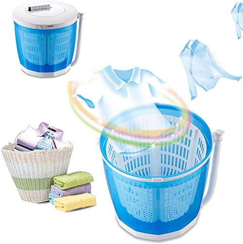 JIBO 2-in-1-Handkurbel-Mini-Waschmaschine, zum Waschen und Abtropfen integriert, geeignet für Outdoor-Reisen, Familie, Schlafsaal, Grundtyp