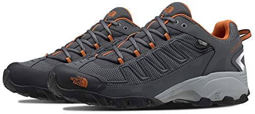 The North Face Men's Ultra 109 WP, Zinc Grey/Burnt Orange, 9.5 D
