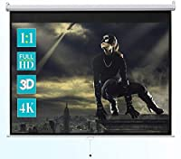 """ivolum 128"""" Manual Projector Screen 1:1 format Manual pull down projector screen [並行輸入品]"""