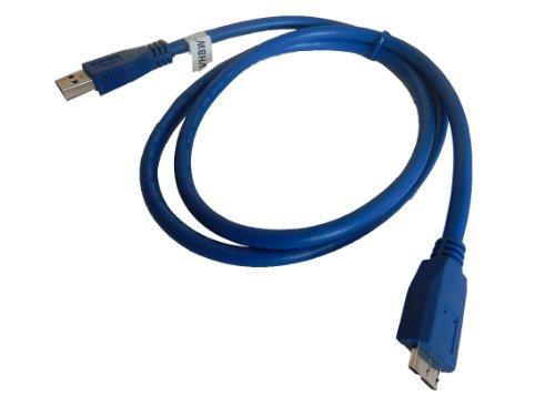vhbw 1.0m Micro-USB 3.0 Daten Lade Adapter Kabel blau für Samsung Galaxy Note Pro 12.2 SM-P900 32GB LTE etc. wie Samsung ET-DQ11Y1WEGWW.