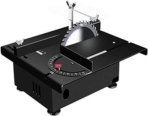 FCPLLTR Mini Sierra de Mesa, la Mesa eléctrica Sierra 12-24V, máquina de Corte Ajustable de Velocidad de Siete Niveles con guía de ángulo para Bricolaje Modelo de Madera artesanales