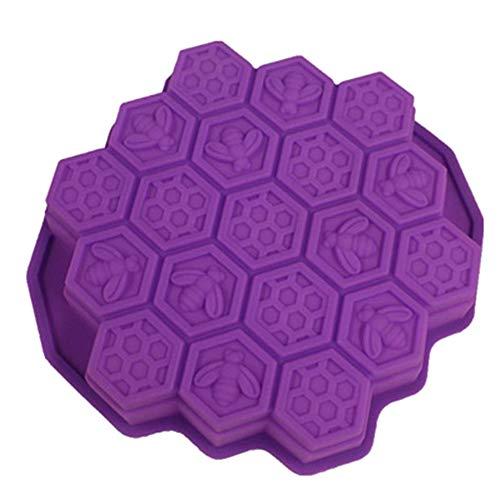 Moolila Moule en silicone en forme de nid d'abeille pour fabrication de gâteaux, bonbons, biscuits, muffins, 24 x 23 x 4,7 cm