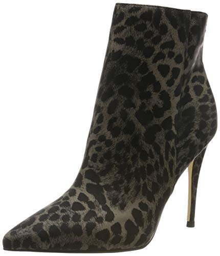 Guess Olanes/Shootie (Ankle Boot)/l, Botines para Mujer, Multicolor (Leopard Colores/Op Paprika), 36 EU