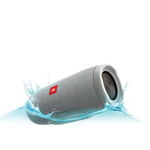 JBL Charge 3 Waterproof Portable Bluetooth Speaker (Gray)