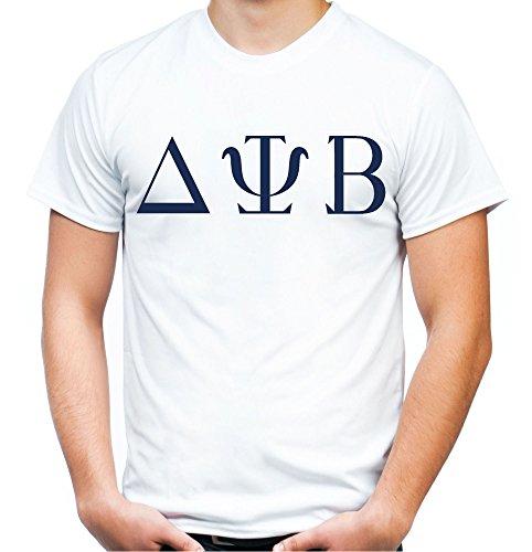 Delta Psi T-Shirt | Bad Neighbors | Männer | Herren | Komödie | Seth Rogen | Zac Efron | Studentenverbindung | Fun | Kostüm | Weiß (M)