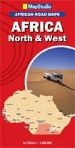 África, norte y oeste, mapa de carreteras. Escala 1:4.000.000. MapStudio.