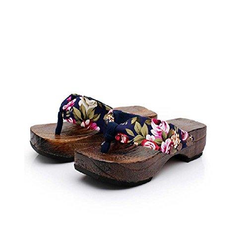QINGXIA_ZI Femmes Chaussures en Bois,Flats Femmes Sandales De Plein Air Décontractée Tongs Confortables Lacer Femme Sandales de Plage Transparents Tapis Antidérapant Sandales Cheville