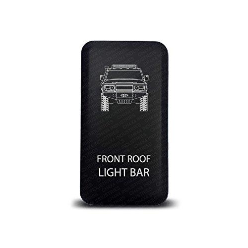 CH4x4 Push Switch for Toyota FJ Cruiser - Front Roof Light Bar Symbol - Amber Led