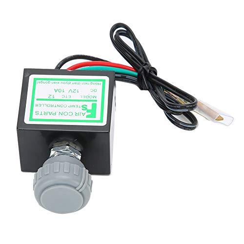 Termostato electrónico para aire acondicionado, termostato electrónico universal de 10 A 12-24 V, termostato electrónico A/C(12V)