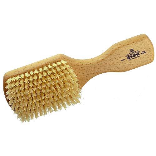 Kent OG4 Rectangular Beachwood Gentlemen's Hair Brush and Facial Brush for Beard Care - Exfoliating Natural Boar Bristle Brush for Mens Grooming, Hair Care, and Beard Straightener for Men's Skin Care