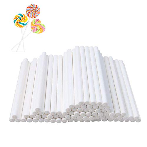 300Pcs 4 Inch White Lollipop Sticks for Chocolate and Cookie,Sucker Stick for Candy Melt,Dessert and Cake Pops