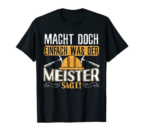 Herren Dachdecker Geschenk   Dachdecker Meister T-Shirt