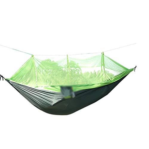 XiuHUa Hamac - Matériel léger pour l'aviation, Parachute de Camping, Grand hamac en Nylon avec moustiquaire et lanière d'arbre, Fauteuil de balançoire léger pour Dormir Hamac (Color : Green)