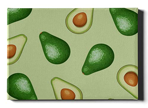 JEOLVP Wandkunst Dekor Moderne Avocado Tropical Fresh Fruit Badezimmer Wandfarbe 30 x 40 cm (12 x 16 Zoll) Abstrakte Wandkunst Wandkunst Bilder hängen im Wohn- oder Schlafzimmer nach Hause