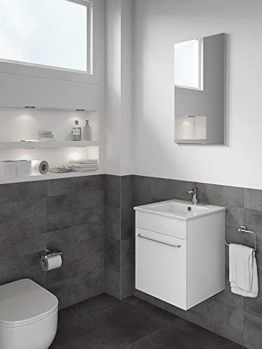 Buy Discount ROYO Set 16'' QUBO Modern Bathroom Vanity (Sink + Mirror + Unit Side) White - 1 Door