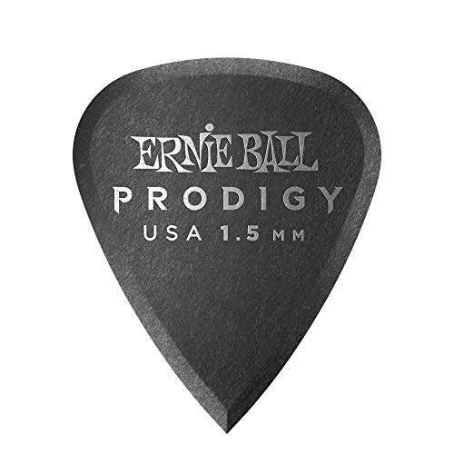 Ernie Ball Prodigy Guitar Picks, Black, 1.5 mm