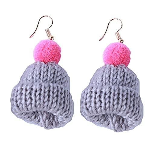 SMEJS - Pendientes de gorro de Navidad bonitos, joyería para mujeres, niñas, pendientes con dijes, pendientes colgantes para mujeres, regalos para mujeres, regalo de cumpleaños para mujeres, herm