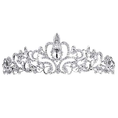 BETOY Tiara de Boda Novia Dama de Honor Corona Diadema Cristal Rhinestone...