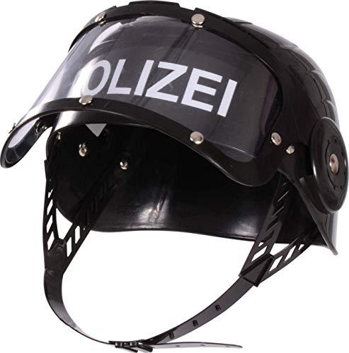 BUSDUGA Polizeihelm für Kinder mit Visier (1 Helm)
