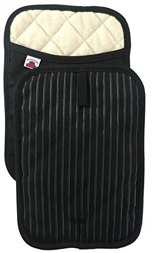 Big Red House Pot Holders with The Heat Resistance of Silicone and Flexibility of Cotton Recycled Cotton Infill Terrycloth Lining Set of 2 Black