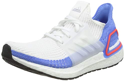 adidas Women's Ultraboost 19 W Running Shoes, White (FTWR White/FTWR White/Real Blue FTWR White/FTWR White/Real Blue), 6 UK