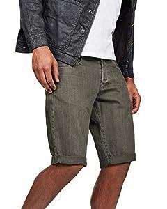 G-STAR RAW Herren 3301 1/2 Shorts, Dunkelblau (Asfalt 995), (Herstellergröße:36W)