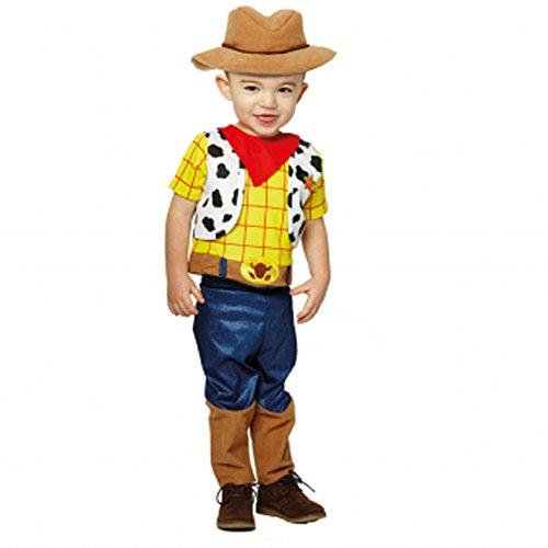 amscan- Toy Story Disfraz Infantil de Woddy Premium, Color Blanco, 86-92 cm (DCWOS18)